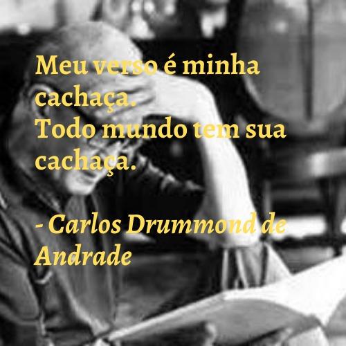 Frase de Carlos Drummond lindas
