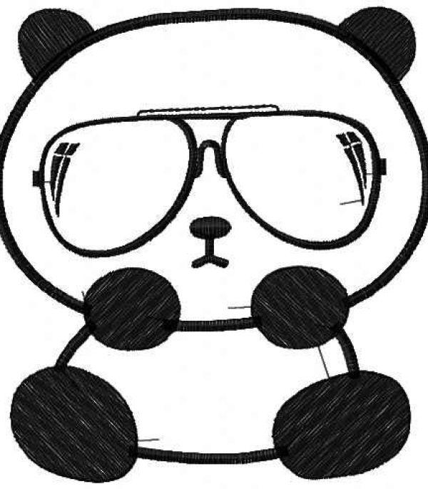 desenhos de panda fáceis de colorir