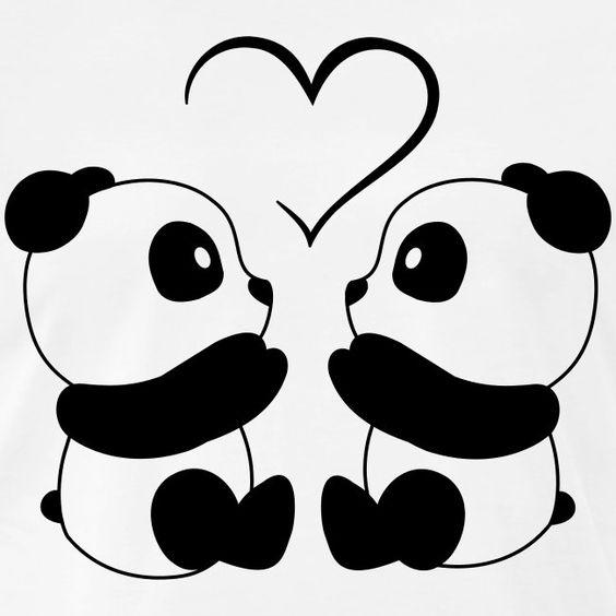 desenho fofo de panda