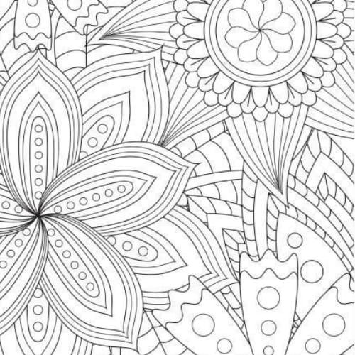 Desenhos com flores  excelentes para colorir e imprimir