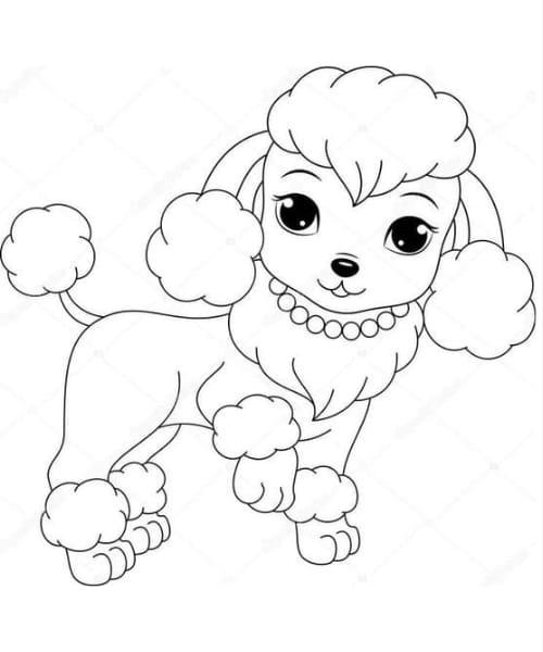 Imagem perfeita para colorir de cachorro fofo