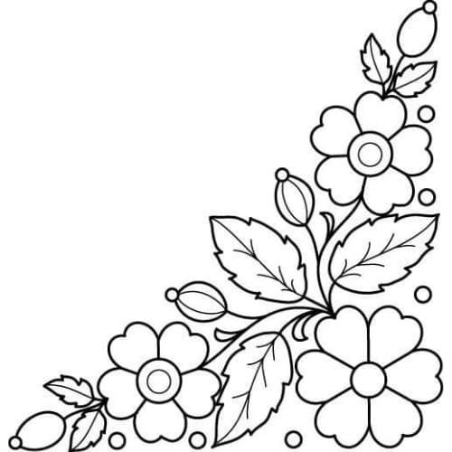 Imagem perfeita com desenho de flores para pintar e colorir