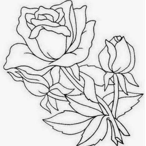 Imagem delicada com flores lindas para colorir e imprimir