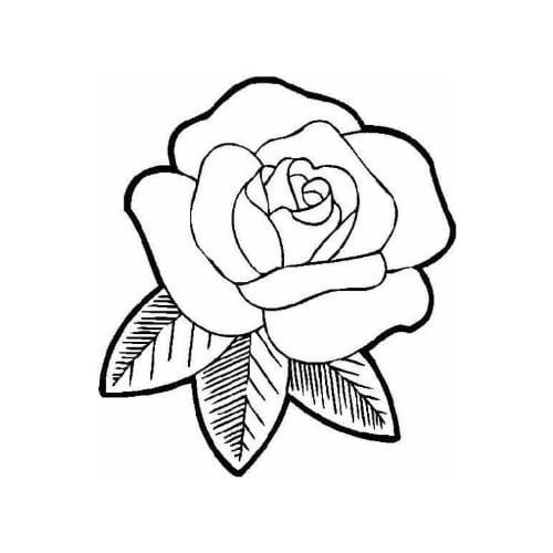 Imagem com desenho para pintar e imprimir de flor