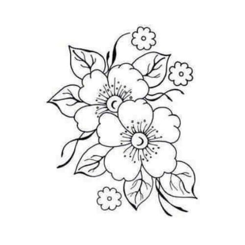 Imagem linfa de flor para colorir e imprimir