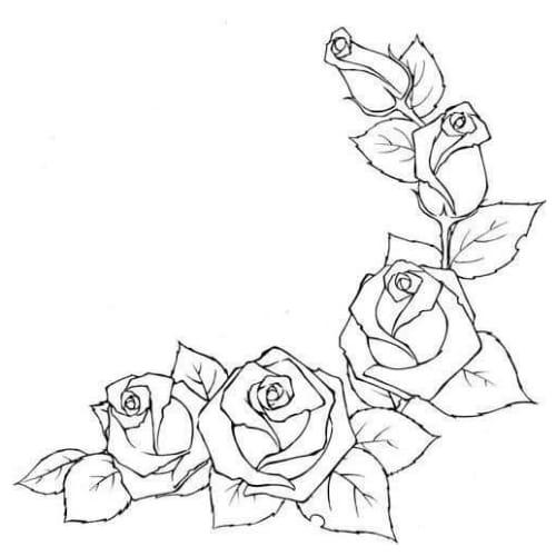 Desenho maravilhoso de flor para colorir e imprimir