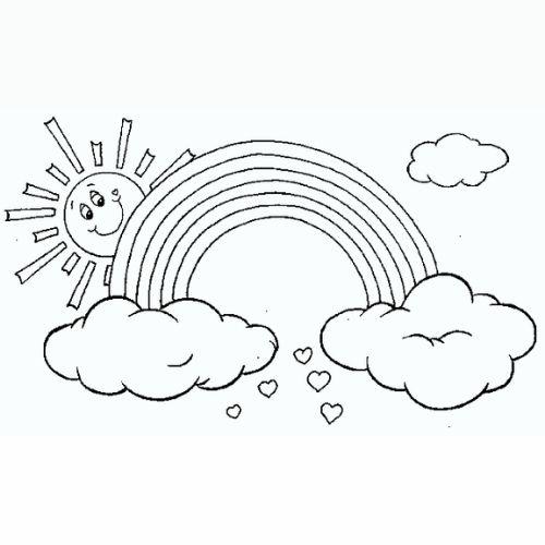 Desenhos de Arco-íris, Sol e Nuvens lindas