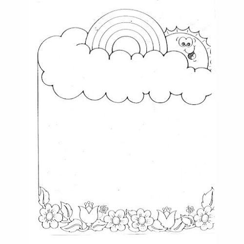 Desenhos de Arco-íris Sol e Nuvens meigo