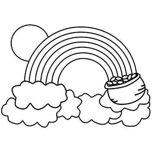 Desenhos de Arco-íris Sol e Nuvens de valor