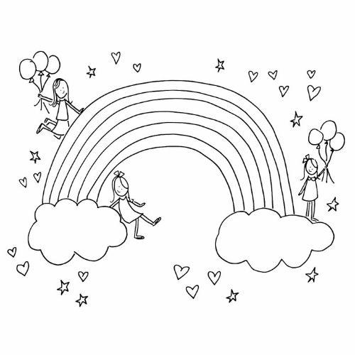 Desenhos de Arco-íris Sol e Nuvens estrelas