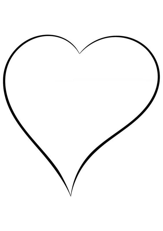 Desenhos de coração para colorir simples