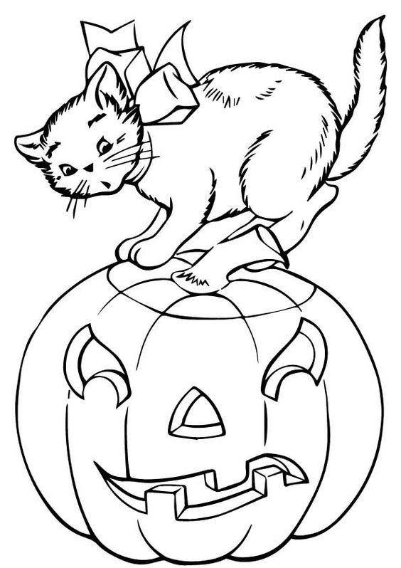 Desenhos de gatos para pintar claros