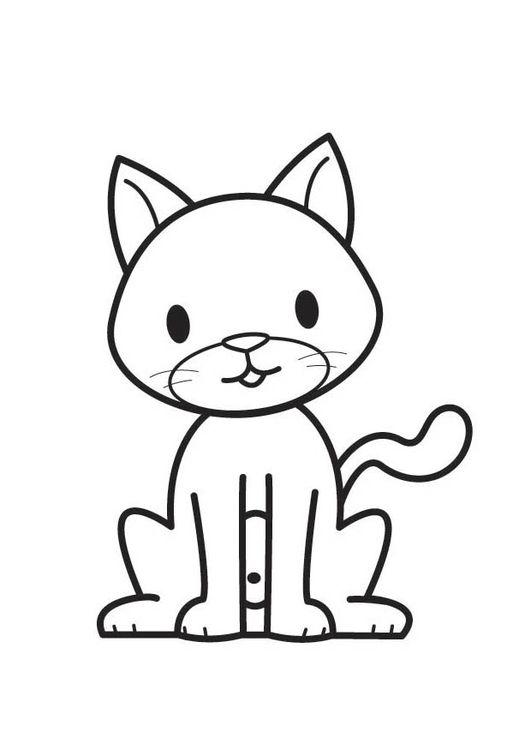 Desenhos de gatos para pintar legal