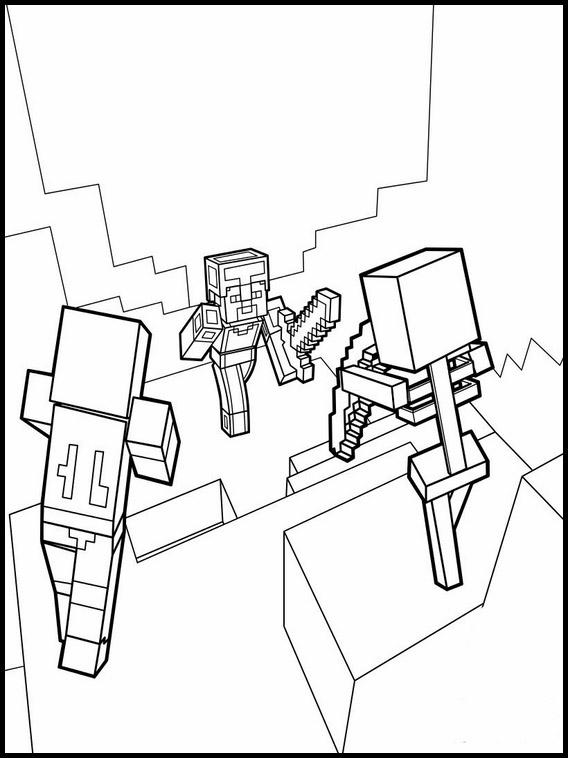 desenhos  Minecraft amigos