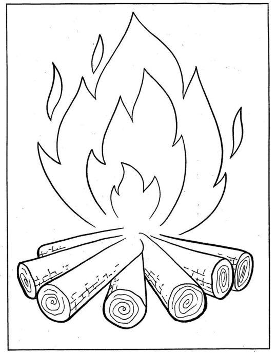 Desenhos de festa junina para colorir fogo