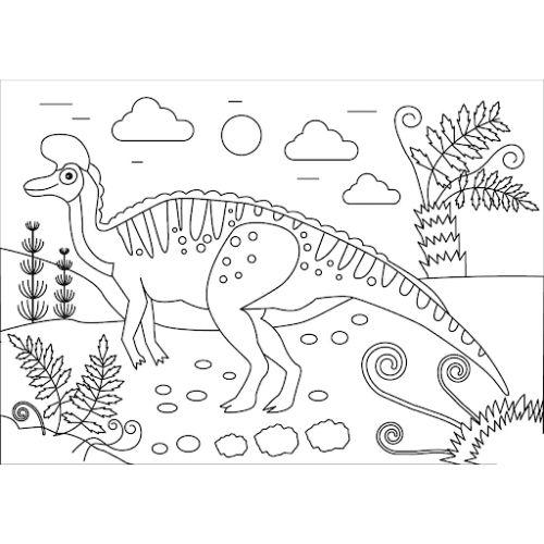 dinossauros para colorir no território
