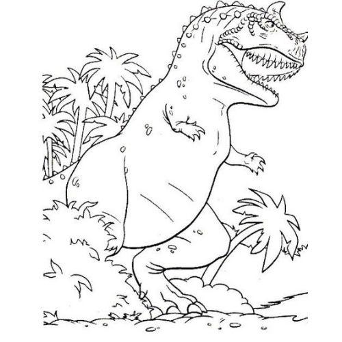 dinossauros para colorir medo