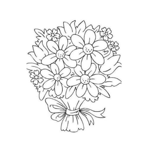 Imagem com desenho de uma bela e linda flor para imprimir e pintar