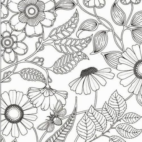 Desenho de imagem completa de flor para colorir e imprimir