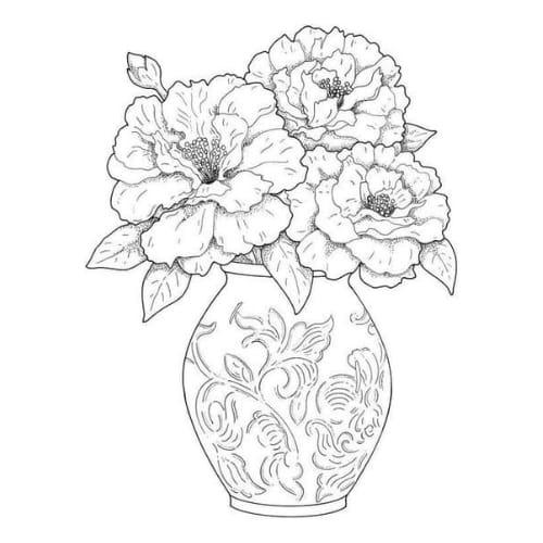 Linda flor para colorir e imprimir