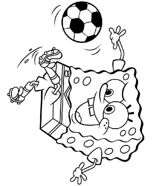 Bob esponja com bola