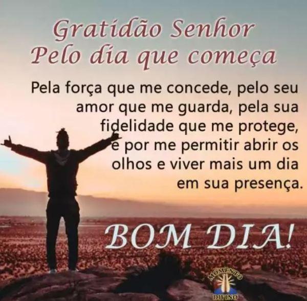 Gratidão ao Senhor por tudo