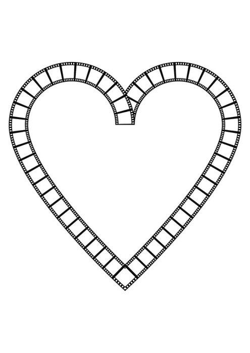Desenhos de coração para colorir vistoso