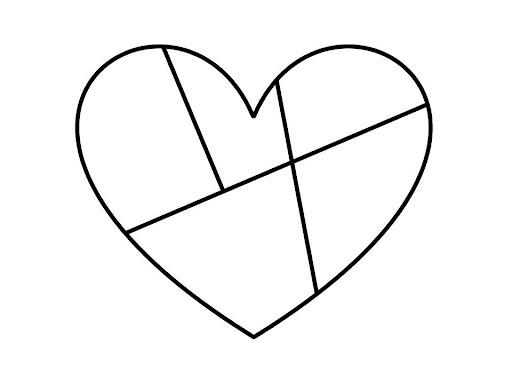 Desenhos de coração para colorir caprichado