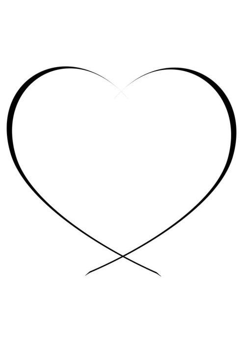 Desenhos de coração para colorir belo