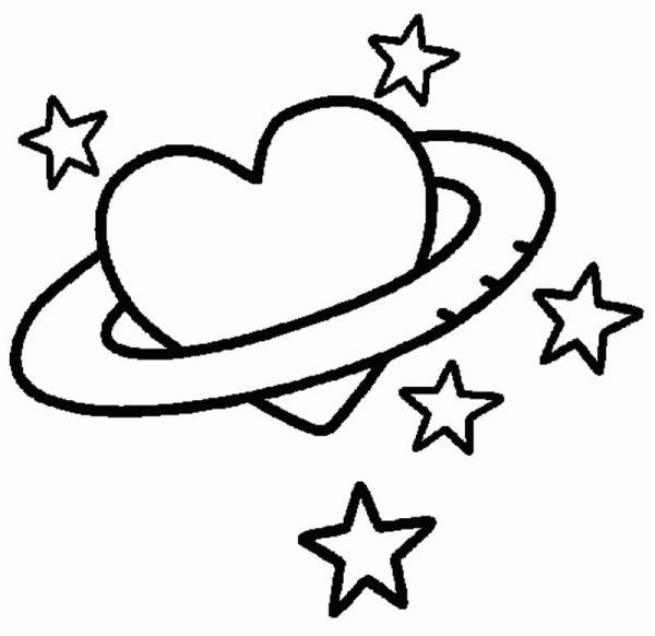 Desenhos de coração para colorir atraente