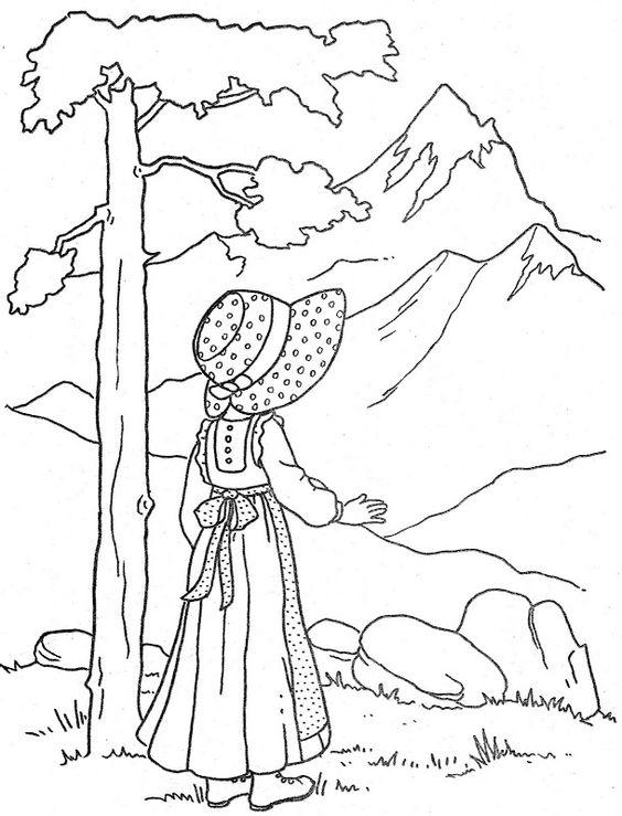desenho natureza para colorir