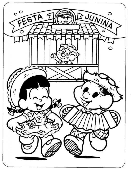 Desenhos de festa junina para colorir barraca