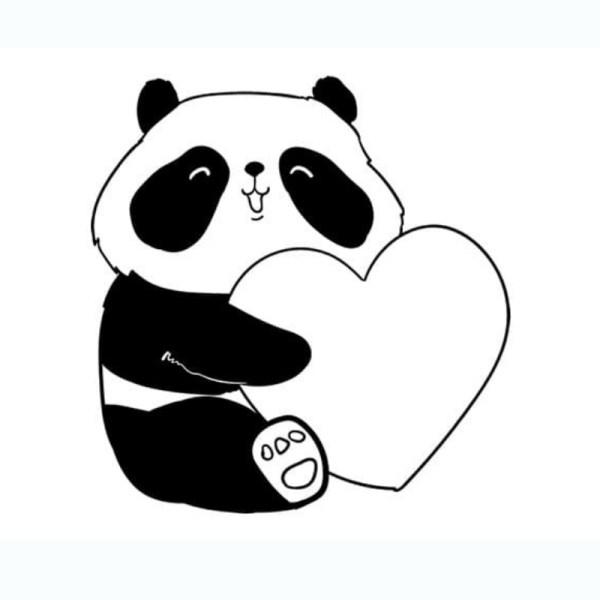 ótimos desenhos panda da kawaii para colorir