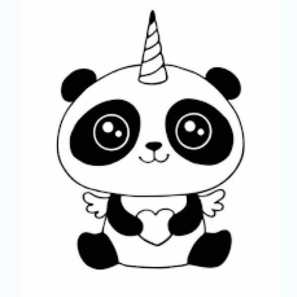 desenho do kawai panda