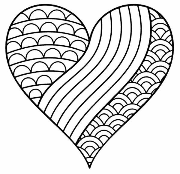 Desenhos de coração para colorir bem