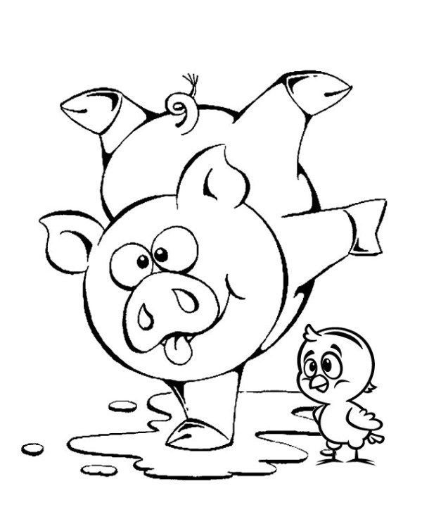 Desenhos galinha pintadinha para colorir porquinho