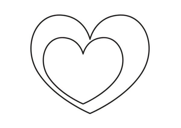 Desenhos de coração para colorir jeitoso