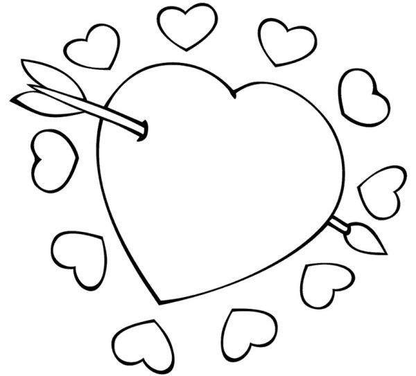 Desenhos de coração para colorir visiveis