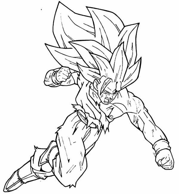 Desenhos do Goku no murro