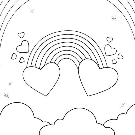Desenhos de coração para colorir divo