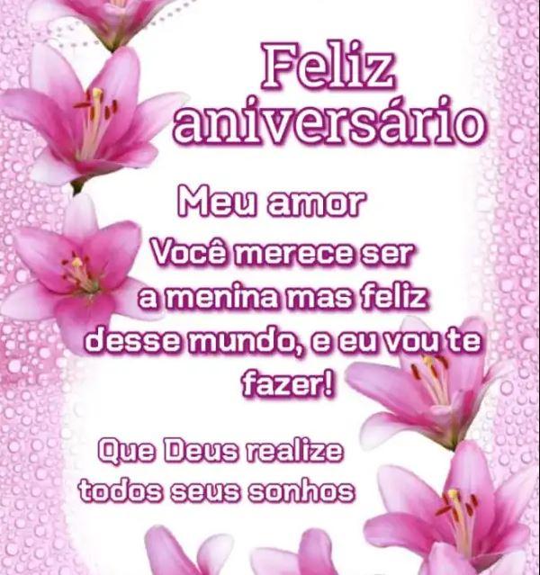 Feliz aniversário meu amor