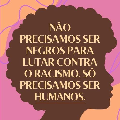 fraes contra racismo lutar
