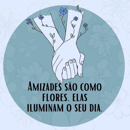 frases de amizade floral