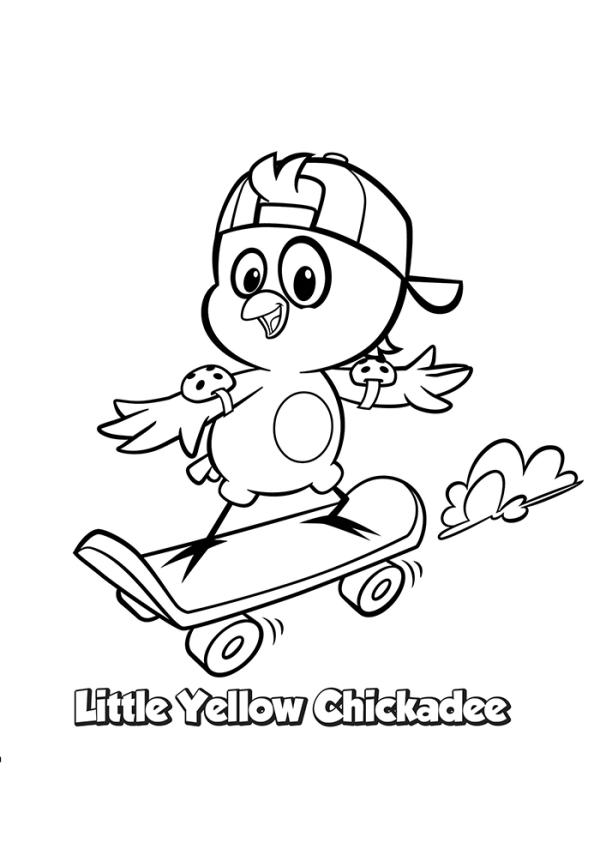 Desenhos galinha pintadinha para colorir skate