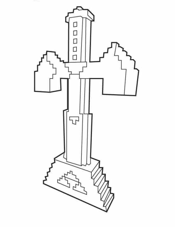 desenhos  Minecraft espada