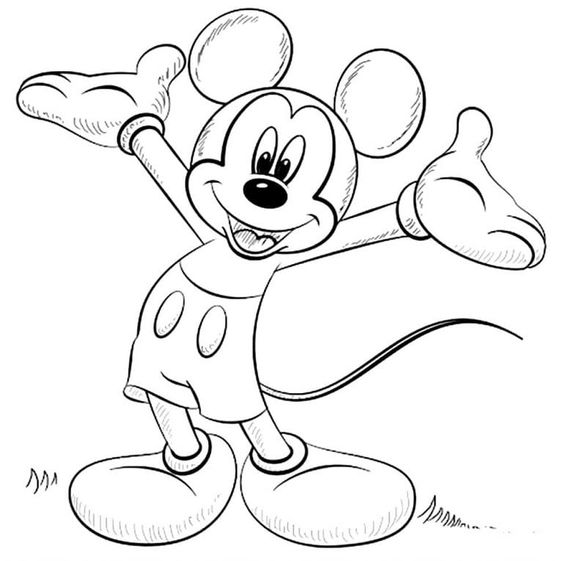 Mickey mouse para colorir