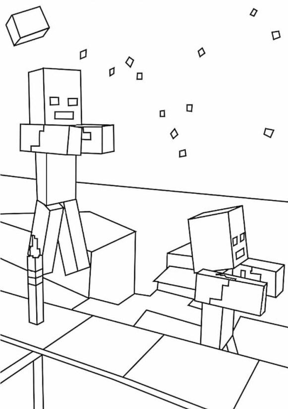 desenhos  Minecraft zumbi