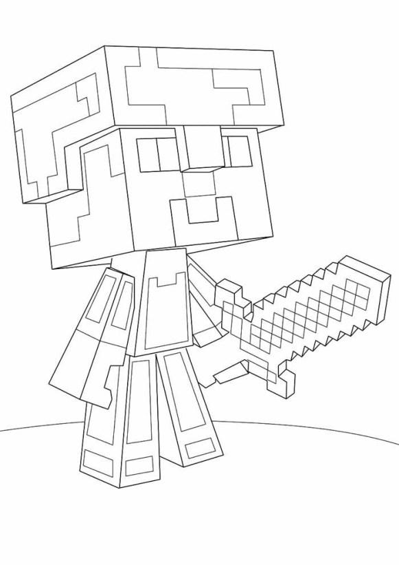 desenhos  Minecraft soldado