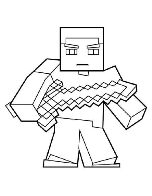 desenhos  Minecraft guerreiro