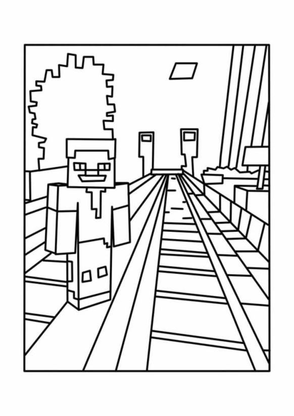 desenhos  Minecraft sorrindo